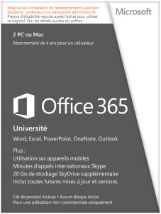 Office 365 étudiants